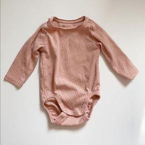 H&M Pink Polka Dot Onesie 2-4 Months